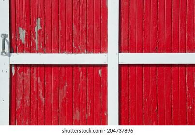 red barn door. Bright Red Barn Door