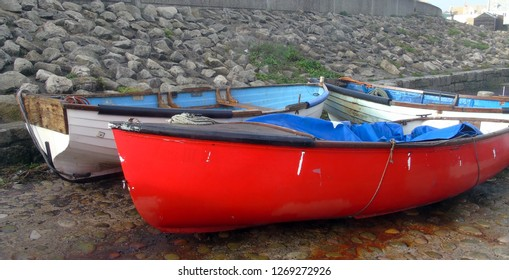 Bright red boat
