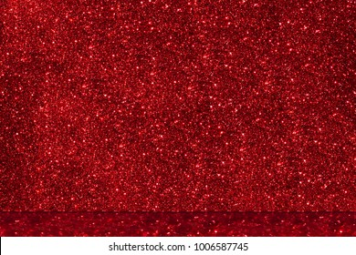 Bright red glitter abstract background. Copy space