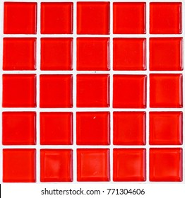 bright red tile background