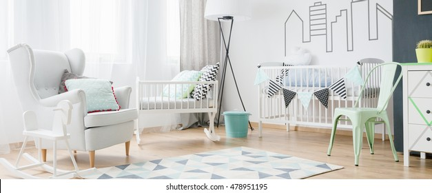 Bright room for little baby