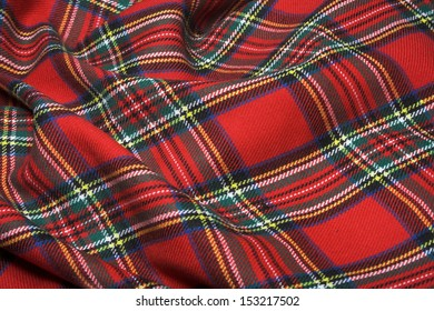 The bright scottish checked fabric.