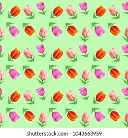 Bright seamless pattern with nature motif