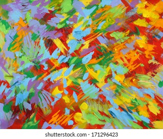 Bright Season Background Abstract Painting