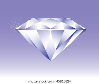 Bright shining diamond, vector version is also available