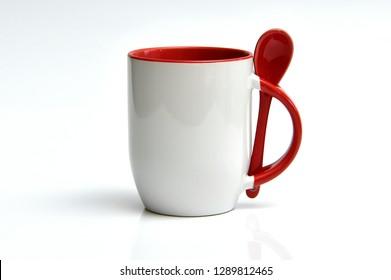 bright shiny white porcelain mug
