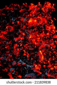 Bright sparkling embers as background