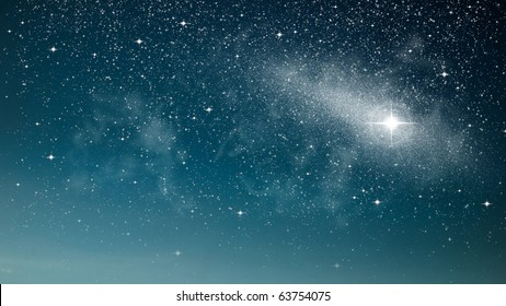 Bright star in space abstract of nature