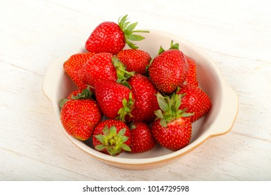 Bright Strawberry in the bowl