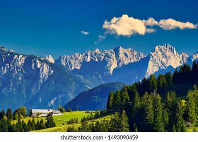 bright summer day at sudelfeld ski and hiking resort in bavaria