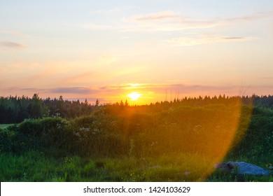 Setting Sun Spotlights Solitary >> Sunset Glare Images Stock Photos Vectors Shutterstock