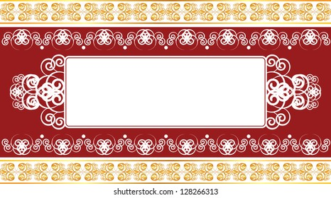 bright vintage background with a pattern