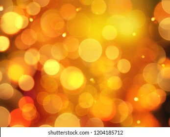 bright warm orange gold glowing background with blurred round blurred lights and sparkling detail
