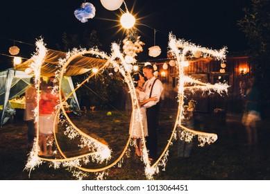 Bright wedding photo