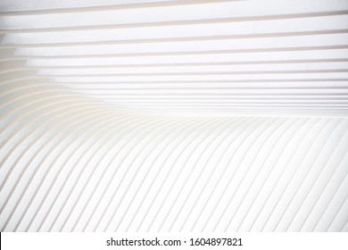 Bright White Abstract Patter with Converging Lines