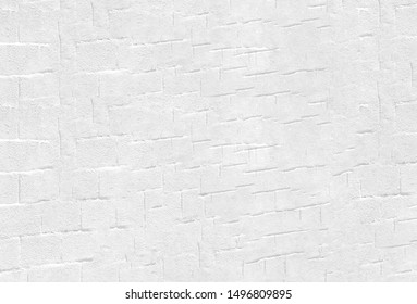Bright white background with brick or concrete blocks like patterns with a feel of perspective and copy space.