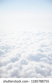 Bright white heavenly clouds from above