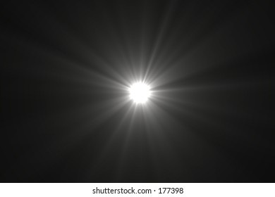 A Bright White Point Of Light With Rays Radiating Off It, Against A Black  Backdrop Nice Design