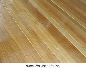 Bright wooden floorboards