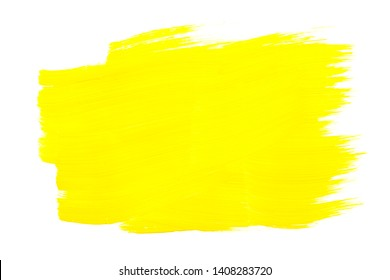 Bright yellow abstract aquarel watercolor background. Colorful yellow acrylic watercolor brush strokes.