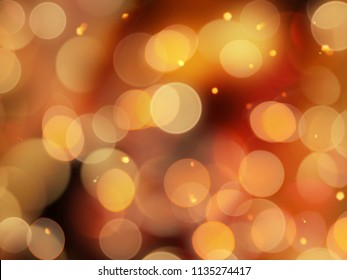Bright  yellow background with golden glowing blurred lights and sparkles