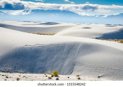 Brighter than snow, gypsum dunes go on forever at White Plains National Monument in New Mexico.