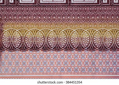 brightly asian protective pattern on banknotes
