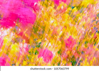 Brightly colored abstract floral arrangement