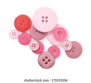 Brightly colored buttons isolated on white background