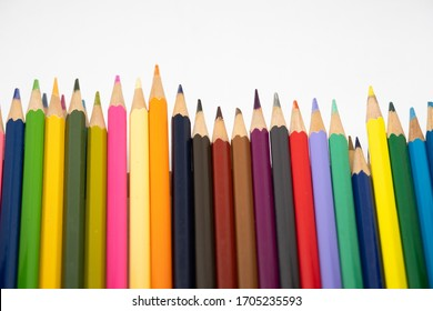 A brightly colored pencils for kid