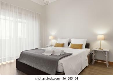 Suite mit hellen und frischen Schlafzimmern