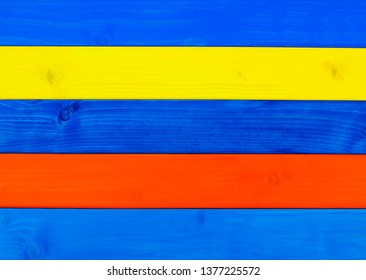 Brightly painted wood, in natural beach holiday design or vacation style, as wooden backgrounds.