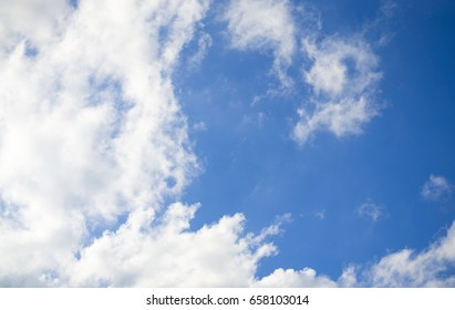 Brightness In the daytime. The shape of clouds in the sky. View Beautiful.