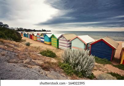 Brighton Bay Beachhouses in Melbourne city, Australia