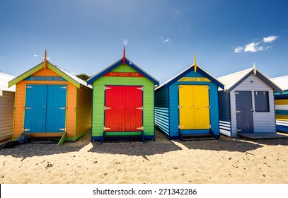 Brighton Bay Beachhouses in Melbourne city, Australia