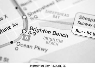 Brighton Beach. 6 Av/Central Park West/Queens Blvd/Myrtle Blvd L