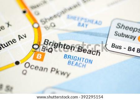 Brighton Beach On Subway Map.Brighton Beach 6 Av Central Park West Queens Stock Photo Edit Now
