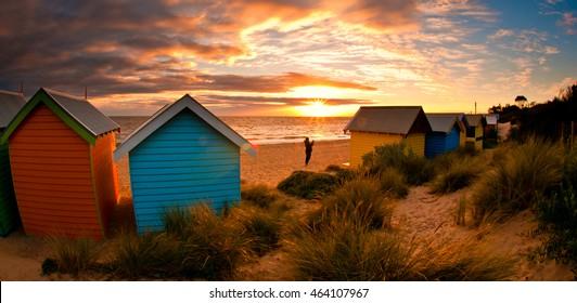 Brighton Beach Bath Houses, Victoria, Australia