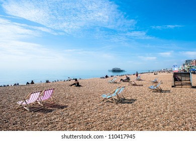 Brighton beach with beatiful weather