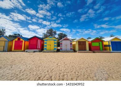 Brighton Beach - Colorfoul Bathing Boxes - Melbourne