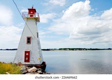 Brighton Beach Range Front Lighthouse in Charlottetown, Prince Edward Island, Canada