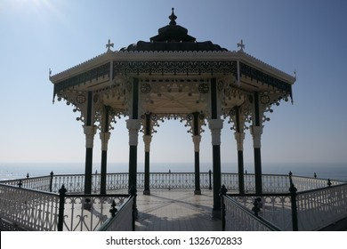 Brighton East Sussex bandstand band stand restored Victorian on seafront