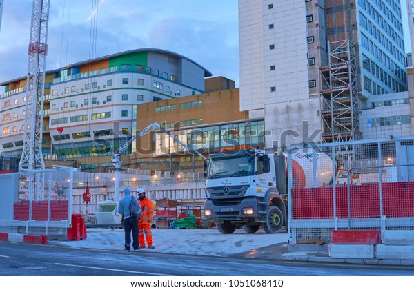 Brighton, East Sussex, England March 21st 2018  Royal Sussex County Hospital NHS University trust  Redevelopment including plans for new buildings and Heliport complete by 2020-2021