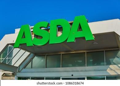 Brighton, East Sussex England May 8th 2018 Brighton Marina ASDA supermarket