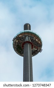 BRIGHTON, EAST SUSSEX/UK - JANUARY 3 : View of the i360 in Brighton East Sussex on January 3, 2019