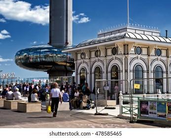 Brighton, East Sussex/United Kingdom - August 9 2016 - British Airways i360 sightseeing attraction
