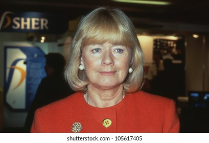BRIGHTON, ENGLAND - OCTOBER 1: Ann Clwyd, Labour party Member of Parliament for Cynon Valley, attends the party conference on October 1, 1991 in Brighton, Sussex.