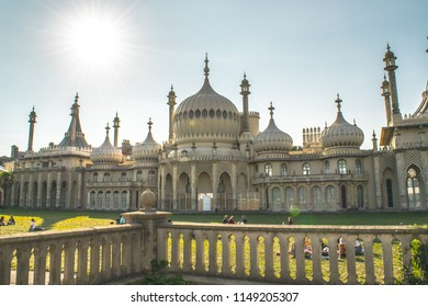 Brighton, England - Summer 2017 Royal Pavilion as a touristic place in Brighton