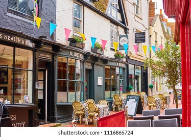 Brighton and Hove, East Sussex, England, UK, June 20th 2018 Brighton Lanes are world famous for their tiny narrow lanes, laid out in 1729