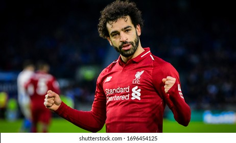 Brighton and Hove, England on 12 January 2019. Mohamed Salah of Liverpool during the Premier League Match between Liverpool FC and Brighton & Hove Albion FC at the American Express Community Stadium.